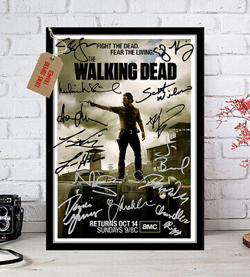 The Walking Dead Cast Signed Autographed Photo Print