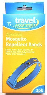 4 x Travel Essential Anti Mosquito Insect Bug Repellent Wrist Bands Deet Ankle