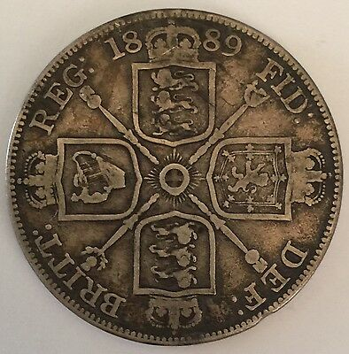 1889 Queen Victoria Double Florin coin - Free U.K Postage