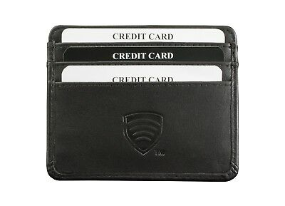 RFID / NFC Blocking Secure Leather Wallet Travel Pass ID Oyster Card Holder Case