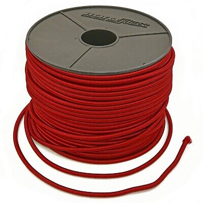 RED ELASTIC BUNGEE ROPE SHOCK CORD LUGGAGE TIE DOWN 2mm 3mm 4mm 5mm 6mm 8mm 10mm
