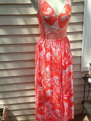 Fabulous Vintage Tom Brigance 1960's Bathing Suit & Matching Cover Up Maxi Skirt