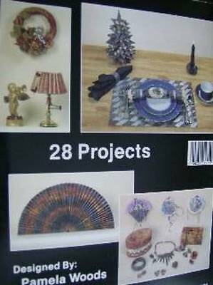 Great Dimensions With Marbleized Paper Craft Book By Pamela Woods- Wreaths , Fan