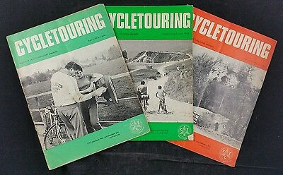 Lot of 3 CTC Cycle Touring Magazines. 1976 & 1977