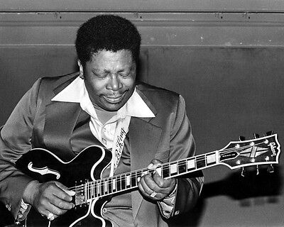 Blues Soul Singer BB KING Glossy 8x10 Photo Music Guitarist Print Poster