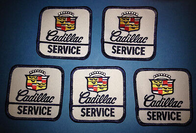 5 Lot Vintage 1980's Cadillac Service Iron On Car Club Jacket Hat Patches Crests