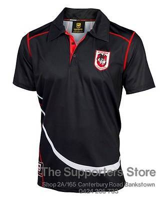 St George Illawarra Dragons 2016 NRL Polyester Polo Shirt Size S-5XL! BNWT's!