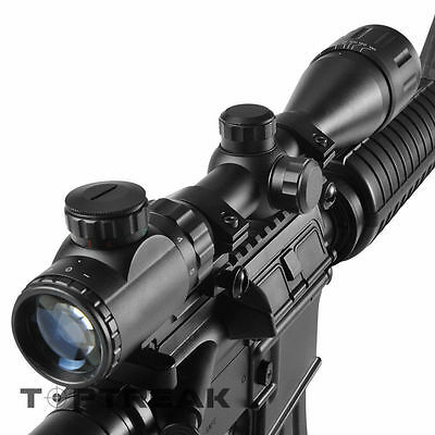 3-9X40 AOEG Tactical Optical Rifle Scope Red Green illuminated Reticle