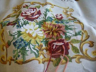 Penelope Dining Chair Seat Bouquet Needlepoint Kit 17 x 13.5 x 14.5 Inches
