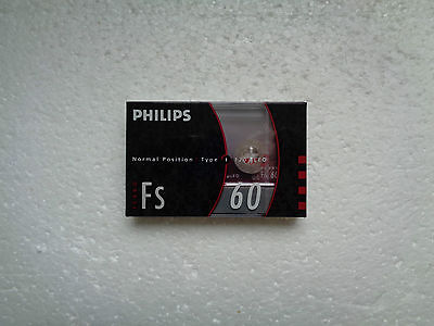 Vintage Audio Cassette PHILIPS FS 60 * Rare From 1990 *