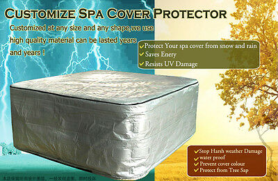 hot tub cover guard 231x231x90cm (91in x 91inx35in) and spa cover protector