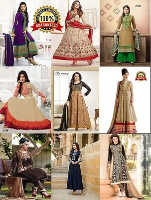 Bollywood Anarkali Dress Suits Gown Salwar Shalwar Kameez Suits Semi-Stitched