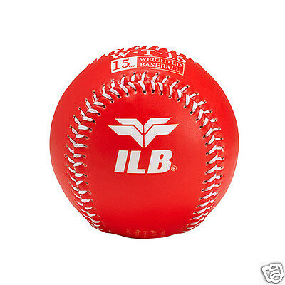 ILB Baseball Sport Color Snap Soft Training Ball 15 Oz Weighted Baseballs Red