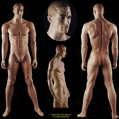 Male mannequin display dummy man, realistic looking hand made manikin -Bob