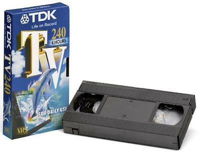 2 TDK E-240 TV VHS PAL Video Cassette 4 Hours