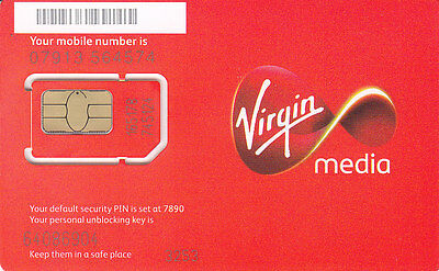 UK Virgin SIM Card with £10 credit (Latest Official pack in Nano/Micro/Std size)