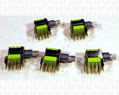 LJV 4P4T Four Position 4 Pole PC Mount Rotary Switches Lot Of 5