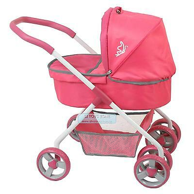 Valco Baby Page Doll Stroller Classic Doll Carriage 4 Wheel Jogger Pram Pink Pre