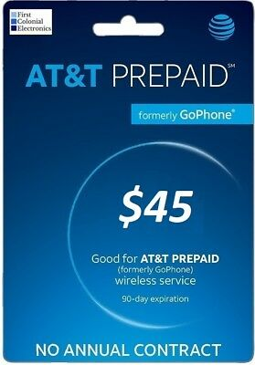 AT&T Go Phone $45 Refill -- Applied To Phone Directly
