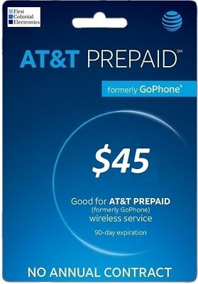 AT&T Prepaid (Formerly Go Phone) $45 Refill - Fast & Right!