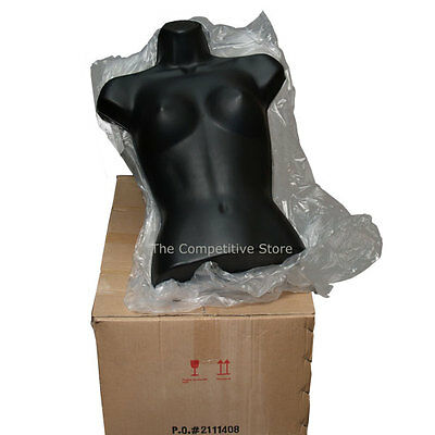 Lot Of 20 Brand New Female Torso Mannequin Forms Black - Display S-M Sizes