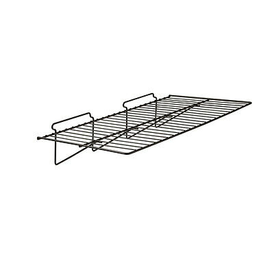 "12"" X 24"" Straight Shelf For Slatwall 6 Pcs - Black Fits All Slat Wall Panels"