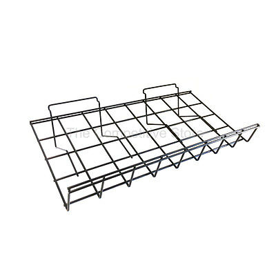 "12"" x 24"" Slant Shelf W/Front Lip Slatwall 3 Pcs - Black"
