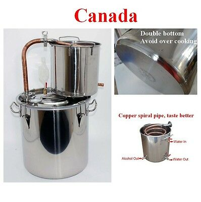 Copper Alcohol Water Distiller Wine Maker Brew Tank 25L #170208