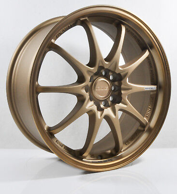 4pcs BBS RS 15 inch Mag Wheels Rim 4X100/4X114.3 Alloy wheel Car Rims GOLD-1