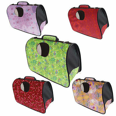 Pet Carrier Collapsible Fold Up Away Cat Small Dog Rabbit Carriers Travel