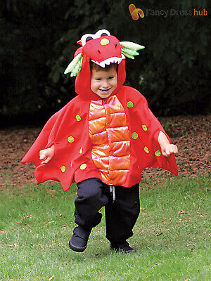 Baby Toddler Deluxe Dragon Costume Boys Blaze Fancy Dress Cape Kids Outfit Child