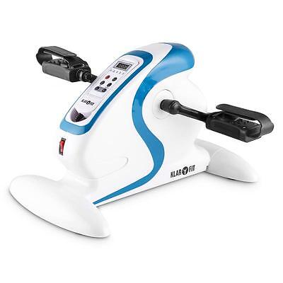 Klarfit Cycloony Minibike Arm & Leg Trainer Exerciser Motor 120Kg Remote White