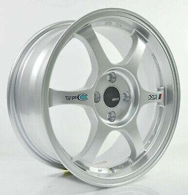 4pcs ENKEI RPF1 15 inch Mag Wheels Rim 4X100 Alloy wheel Rims Car SILVER -1
