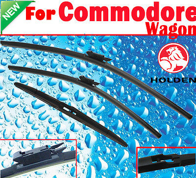 Pair Front Windscreen Wiper Blade + Rear Holden COMMODORE WAGON 2006-2016
