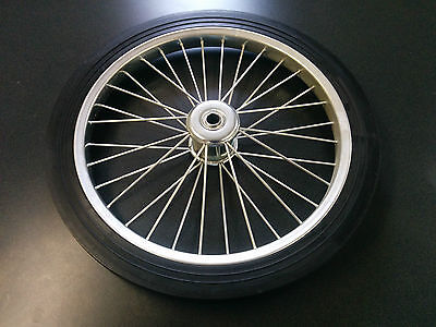 "20"" Cart Tire Complete with Rim and Solid Tire 3/4"" Shaft"