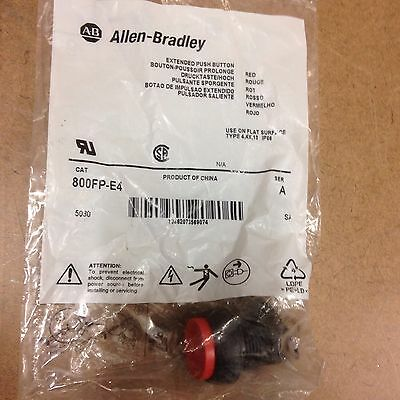 Allen Bradley  800FP-E4  SER A PUSH BUTTON RED