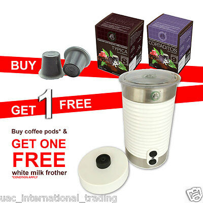 Buy 120 Nespresso Camptiable Coffee Capsules get 1 Free Coffee Milk Frother