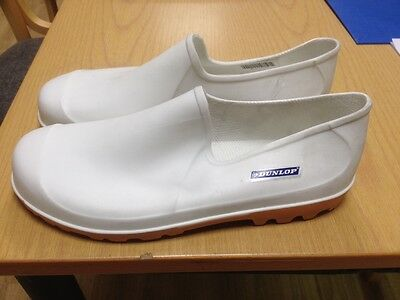 Dunlop White Non Safety Waterproof Gardening Wellie Shoe