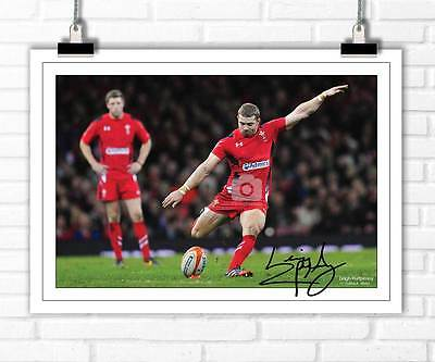 Leigh Halfpenny Wales Rugby Six Nations 2015 Autographed Signed Photo