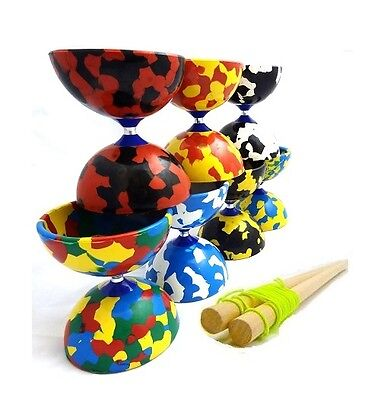Jester Diabolo & Wooden Handsticks - Quality Rubber Diablo Set with Sticks