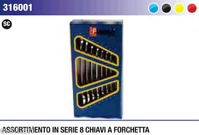 Fumasi 316001 Set Kit Chiavi Inglesi 8 Pz Da 6 - 22 A Forchetta