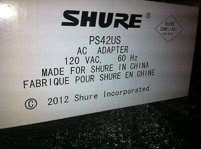NEW Shure PS43US 15VDC 600mA Power Supply for GLXD4, ULXS4, ULXP4, ULXD4, & More