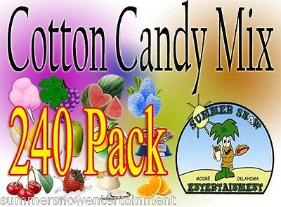 240 pack COTTON CANDY mix w/ SUGAR FLAVORING FLOSSINE FLAVORED FLOSS *Concession