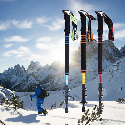 Carbon Fiber Trekking Hiking Sticks Poles Alpenstock  Adjustable Walking Cane