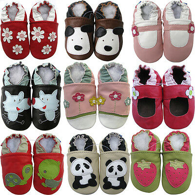 Carozoo UK soft sole leather baby/toddler shoes slippers unisex up to 8 years