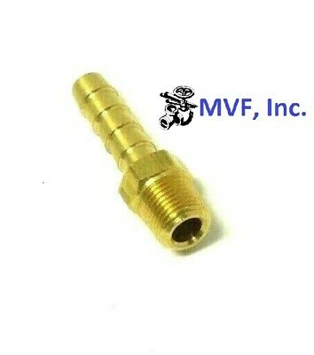 "HOSE BARB for 1/4"" ID HOSE X 1/8"" MALE NPT HEX BODY BRASS FUEL FITTING  201A-4A"