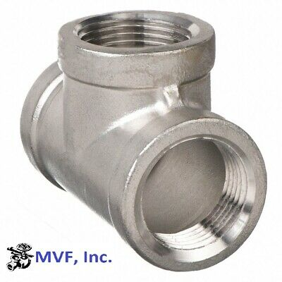 "Tee 150# 304 Stainless Steel 2"" Npt Fitting Brewing Pipe Fitting  743Wh"
