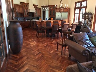 "Herringbone Acacia Bronze 3/4"" x 3"" x 17.7""  Hardwood Flooring Sample"