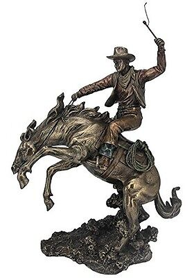 "13.5"" Cowboy Classic Rodeo Statue Western Figurine Country Figure American"