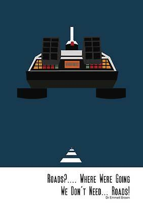 A3 Back To The Future Original Art Print